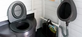 Kierrätyskeskukselle Biolanin kuivakäymälä asiakaskäyttöön